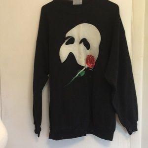 1980's Phantom of the Opera Black Sweatshirt XL